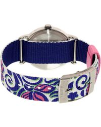 Timex - Womens Weekender Preppy Floral Quartz Brass And Nylon Casual Watch Color:blue (model: Tw2p902009j) - Lyst