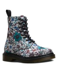 Dr. Martens - Blue Page 8-eye Boot Boots - Lyst