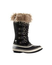 Sorel - Joan Of Arctic Boot Black Suede - Lyst