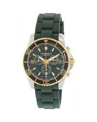Victorinox - Maverick Chronograph Green Dial Green Silicone Watch 241694 for Men - Lyst