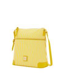 Dooney & Bourke - Yellow Db Stripe Crossbody - Lyst