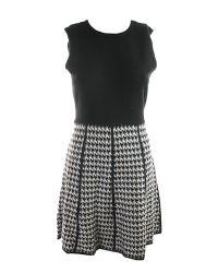 Calvin Klein - Black Womens Petites Knit Pattern Sweaterdress - Lyst