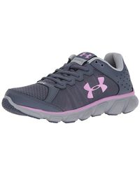 Under Armour - Gray Women Micro G Assert 6 Running Shoes - Lyst