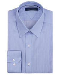Tommy Hilfiger - Blue Men's Big & Tall Classic-fit Non-iron Fineline Stripe Dress Shirt for Men - Lyst
