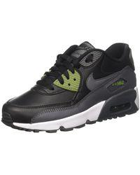 lowest price 07dfd 88646 Men s Kids Air Max 90 Ltr Gs Running Shoe-black-5