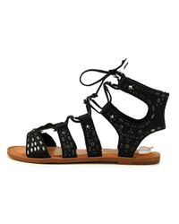 Dolce Vita - Black Jazzy Open Toe Leather Sandals - Lyst