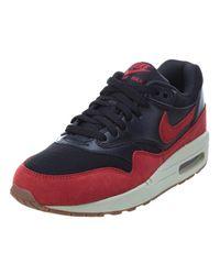 Nike - Air Max 1 Essential Black/gym Red/sail/gm Md Brown Running Shoe 5.5 Women Us - Lyst