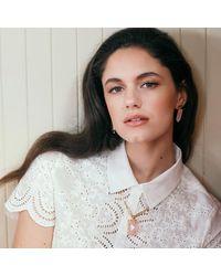 Cathy Pope Jewellery - Metallic Rose Quartz Gold Necklace - Lyst