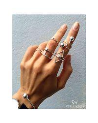 VERA VEGA - Multicolor Silver Light Ring - Lyst