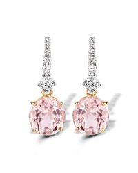 Baskania - Pink Earrings Morganite - Lyst