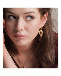 Patience Jewellery Multicolor Fern Pearl Earrings Vm