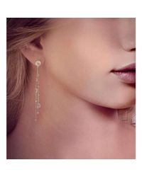 BCOUTURE - White Topaz Drop Earrings In White Gold - Lyst