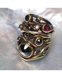 Bergsoe - Metallic Alternate Twisted Ring - Lyst