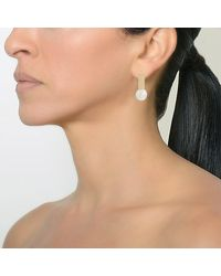 Bridget King Jewelry Multicolor Diamond Tile With Pearl Earrings