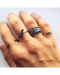 Imperfect Grace - Multicolor Olenka Split Ring With Tsavorites - Lyst