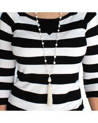 Cosanuova - Metallic Pearl And Pearl Tassel Necklace - Lyst