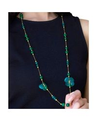M's Gems by Mamta Valrani | Blue Clover Chain With Jade, Onyx And Quartz | Lyst