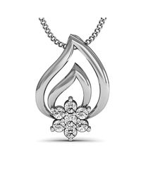 Diamoire Jewels - Metallic Captivating Diamond Pave Pendant In 18kt White Gold - Lyst