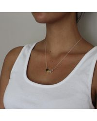 Vicky Davies - Multicolor Silver & Gold Mixed Dot Pendant Necklace - Lyst