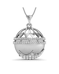 Diamoire Jewels - Metallic Diamonds And 14kt White Gold Nature Inspired Pendant - Lyst
