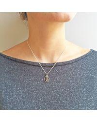 Vicky Davies Metallic Sterling Silver Citrine November Birthstone Pendant Necklace