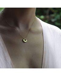 Stephanie Gorski Jewelry - Metallic Circle Stone Necklace Gold - Lyst