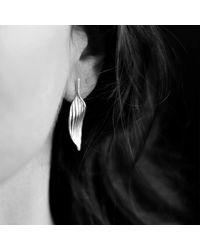 AWU Fine Jewelry - Multicolor Sterling Silver Bamboo Leaf Stud Earrings | - Lyst