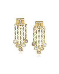 Ivanka Trump - Metallic 18k Yellow Gold Tassel Moderne Short Fringe Diamond Earrings - Lyst