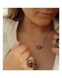 Charlotte Cornelius - Metallic Silver Succulent Artichoke Wrap Ring - Lyst