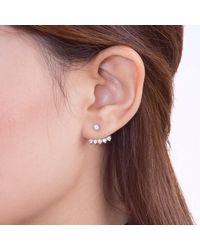 Vea Fine Jewelry - Metallic Floating Stars Ear Jacket Rose Gold - Lyst