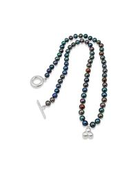 Vicky Davies - Multicolor Black Pearl Knotted Necklace - Lyst