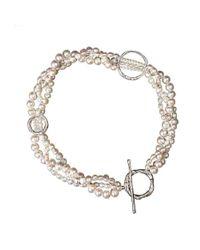 Erin Cox Jewellery - Metallic Serendipity Plaited Pearl Necklace - Lyst
