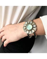 Sandra Anne Designs - Multicolor Aventurine Opal Flower Cuff - Lyst