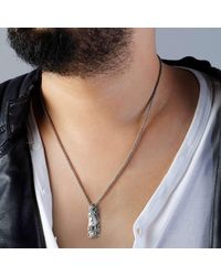 Suciyan - Metallic Dragon Knot Pendant On Sterling Silver Chain for Men - Lyst