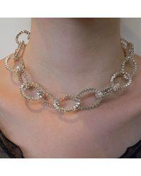 Karen Fox - Multicolor Oval Ruffle Link Necklace - Lyst