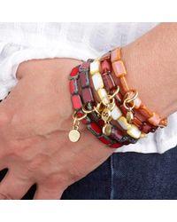 Eva Michele - Deep Red Infinity Bracelet - Lyst