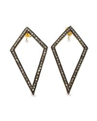 Black Betty Design - Multicolor Diamond Kite Earrings - Lyst