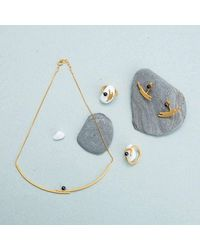 Pargo Jewelry - Multicolor Mouj Earrings-gold And Peacock Pearl - Lyst