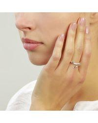 Jana Reinhardt Jewellery - Metallic Snake Ring In Yellow Gold Plated Silver With Black Diamonds - Lyst