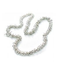 Hiho Silver - Metallic Sterling Silver Cascading Multi Rings Necklace - Lyst