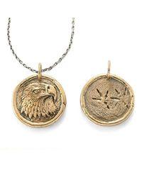 House of Alaia Metallic Power Eagle Traveller's Coin Necklace Bronze