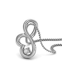 Diamoire Jewels - Metallic Stylish White Gold Pendant In Metal Purity Of 18kt - Lyst