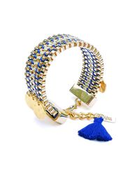 Clare Hynes - Blue And Gold Jessie Bracelet - Lyst