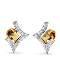 Diamoire Jewels - Metallic Clinquant Cut Pave Diamond Earrings In 18kt Yellow Gold - Lyst