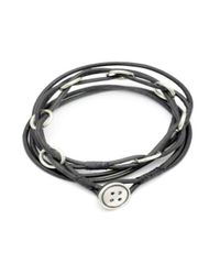 Annika Rutlin - Multicolor Button Catch Leather Necklace - Lyst
