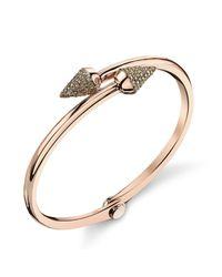 Borgioni - Metallic Small Spike Handcuff In Rose Gold - Lyst