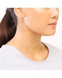 Ivanka Trump - Multicolor Empire Motif Open Frame Earrings - Lyst