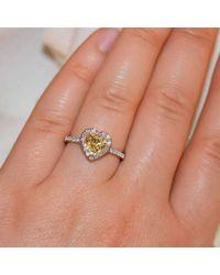 Custom Made By Irina - Multicolor Heart Shape Yellow Sapphire Ring - Lyst