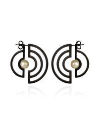 Cara Tonkin - Metallic Oxidised Silver Orbit Solaris Earrings - Lyst