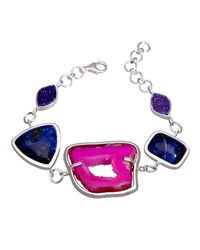Lia Chahla - Magic Pink Agate Bracelet With Sodalite And Druzy Stones - Lyst